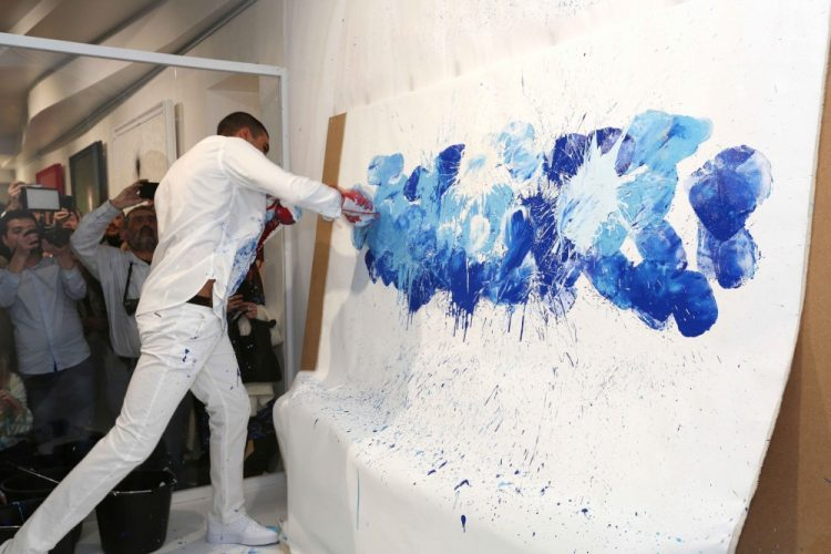VIP Preview opening of Omas Hassan's exhibition Breaking Through at ContiniArt UK, London
