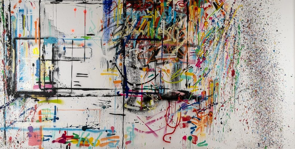 Time Lines dal 08_01_19 al 08_01_20 | mixed media | 200x400cm | 2020